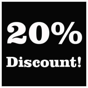 You found us – Here's 20% off!!